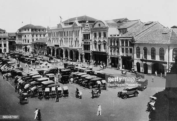 Raffles Square in Raffles Place Singapore circa 1920