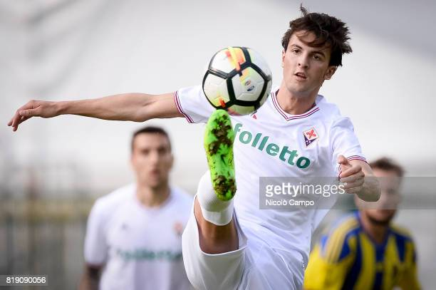 BENATTI MOENA TRENTO ITALY Rafik Zekhnini of ACF Fiorentina in action during the preseason friendly football match between ACF Fiorentina and AC...