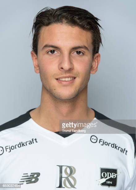 Rafik Zekhnini of Team Odd BK during Photocall on March 13 2017 in Skien Norway