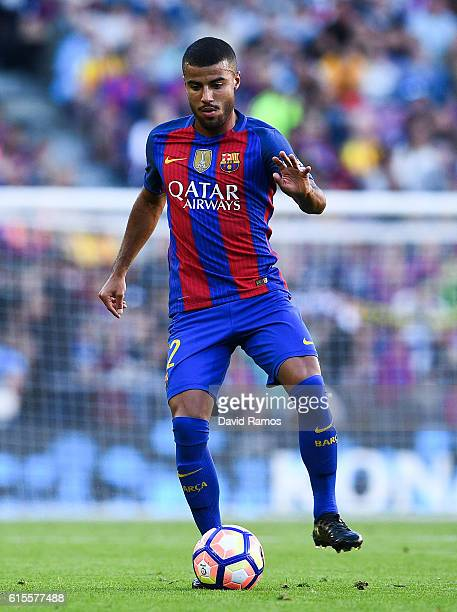 Rafinha Alcantara of FC Barcelona runs with the ball during the La Liga match between FC Barcelona and RC Deportivo La Coruna at Camp Nou stadium on...