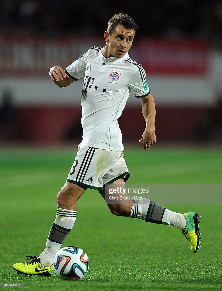 Rafinha of Bayern Muenchen in action during the FIFA Club World Cup Semi Final match between Guangzhou Evergrande FC and Bayern Muenchen at Agadir Stadium on December 17, 2013 in Agadir, Morocco.