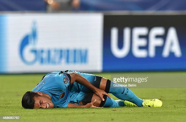 Rafinha of FC Barcelona after clashes with Radja Nainggolan of AS Roma during the UEFA Champions League Group E match between AS Roma and FC...