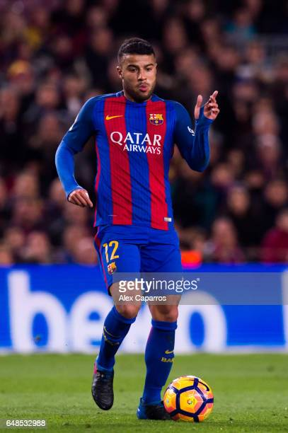 Rafinha of FC Barcelona conducts the ball during the La Liga match between FC Barcelona and RC Celta de Vigo at Camp Nou stadium on March 4 2017 in...