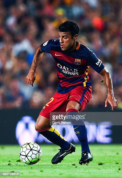 Rafinha of FC Barcelona runs with the ball during the Joan Gamper trophy match at Camp Nou on August 5 2015 in Barcelona Spain