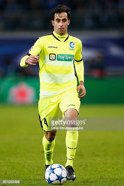 Rafinha of Gent in action during the group H UEFA Champions League match between KAA Gent and Football Club Zenit Saint Petersburg held at Ghelamco...