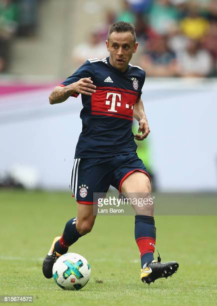 Rafinha of Muenchen runs with the ball during the Telekom Cup 2017 match between Bayern Muenchen and 1899 Hoffenheim at on July 15 2017 in...