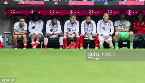 Rafinha of Munich Reanato Sanches of Munich David Alaba of Munich Felix Goetze of Munich Arturo Erasmo Vidal of Munich Arjen Robben of Munich...