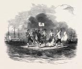 Raft Dance At The Squadron Regatta Cork 1852