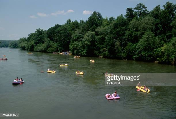 Rafters Float the Chattahoochee River