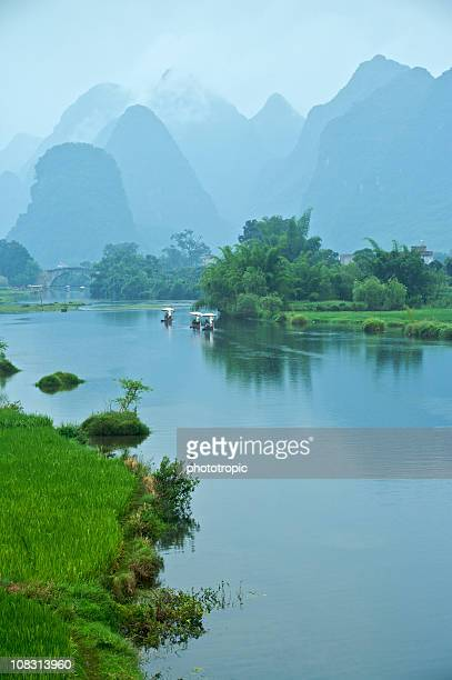 rafting down the Yulong River