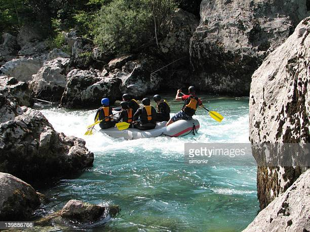 Rafting on a river