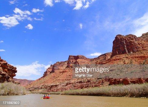 Rafting on the Colorado River near Moab Utah