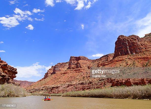 Rafting on the Colorado River near Moab Utah