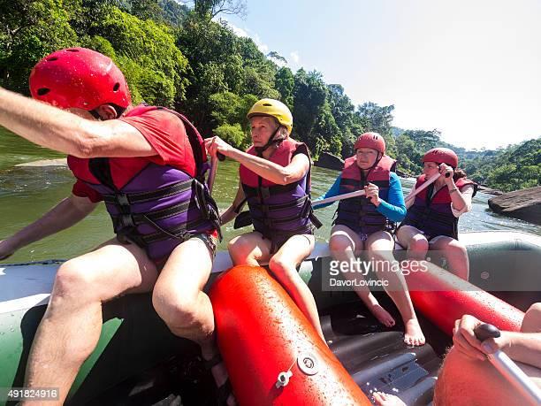 Rafting on the Kelani River in Sri Lanka