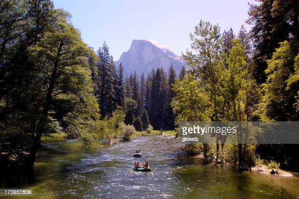Rafting on the Meced river in Yosemite