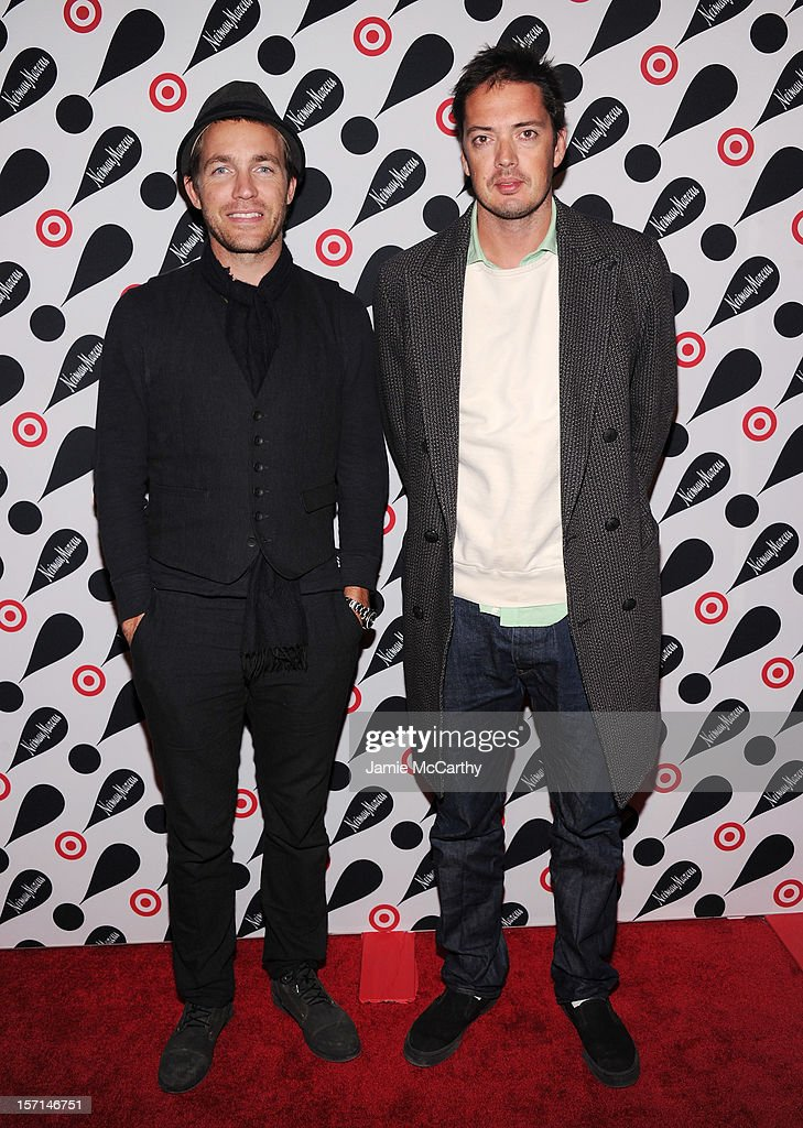 Rag & bone co-designers David Neville (L) and Marcus Wainwright attends the Target + Neiman Marcus Holiday Collection launch event on November 28, 2012 in New York City.