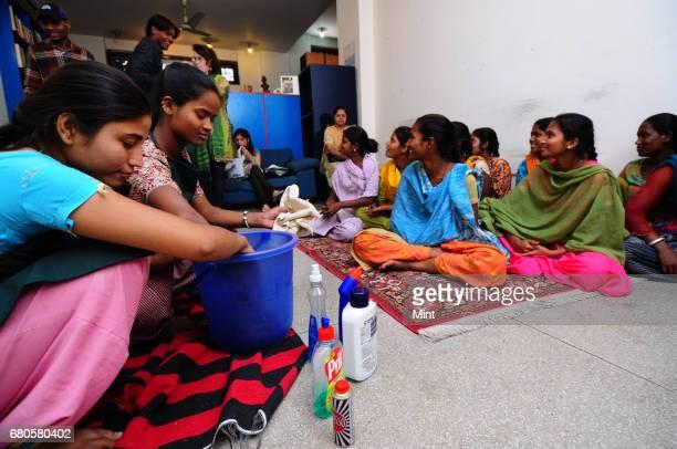 Rag pickers are trained for the domestic staff market in New Delhi