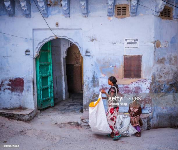 Rag pickers in Jodhpur Rajasthan India