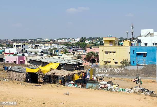 Rag pickers' shack, Hosur, Tamil Nadu, India