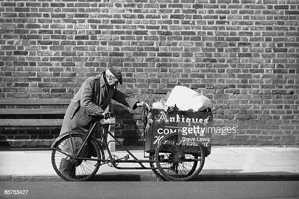 A ragandbone man on his rounds in Forest Gate in the East End of London 1960s