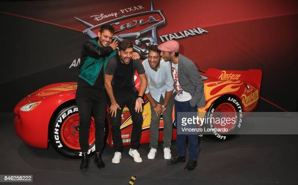 Ragazzi di Casa Surace attend Cars 3 photocall in Milan on September 11 2017 in Milan Italy