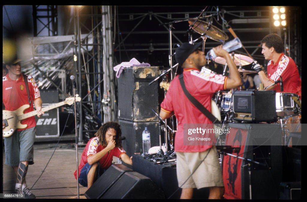 Rage Against The Machine, Zack De La Rocha, Tom Morello, Tim Commerford,, Brad Wilk, Rock Torhout Festival, Torhout, Belgium, .