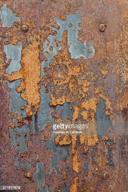 Ragged and rusty sheet metal plate