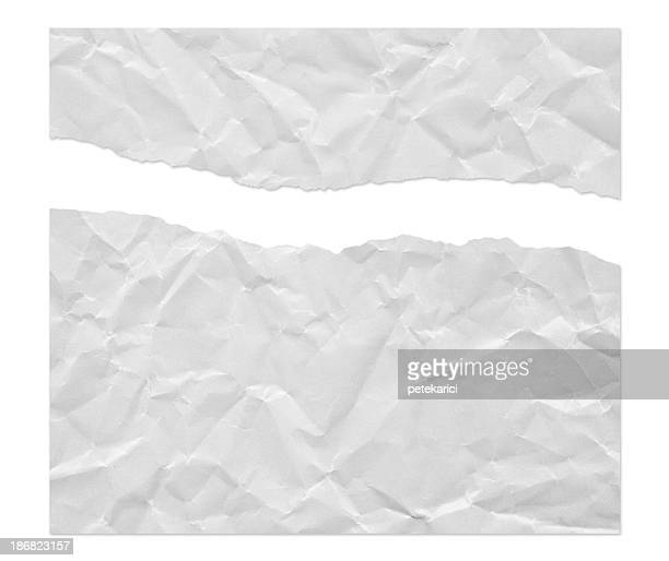 Ragged Wrinkled White Paper