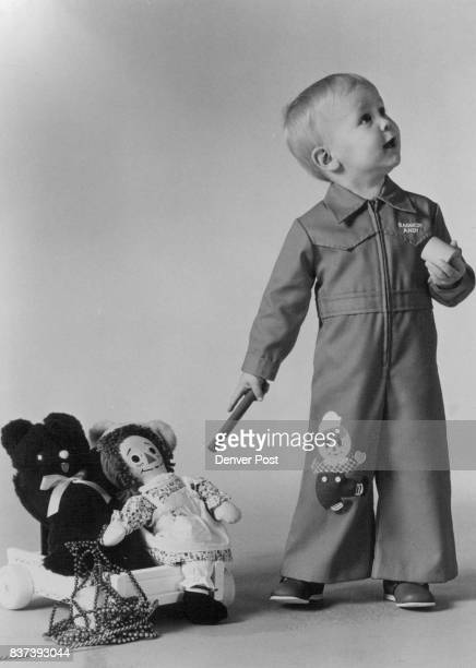 Raggedy Ann and Andy inspired holiday fashions including polyestercotton zipfront jumpsuit in red with applique Credit The Denver Post