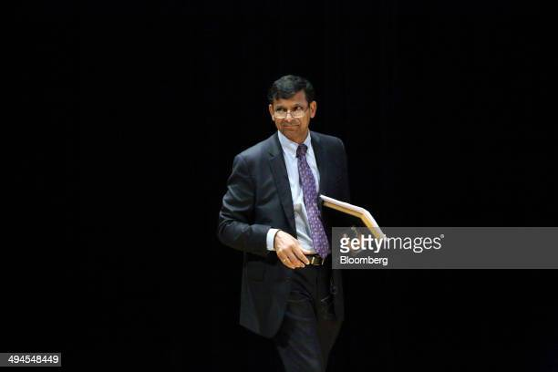 Raghuram Rajan governor of the Reserve Bank of India arrives for a symposium hosted by the Institute for India Economic Studies in Tokyo Japan on...