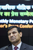 Raghuram Rajan governor of the Reserve Bank of India attends a news conference in Mumbai India on Tuesday April 5 2016 India's central bank lowered...