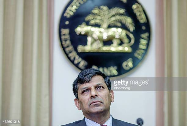 Raghuram Rajan governor of the Reserve Bank of India pauses during a news conference at the central bank's headquarters in Mumbai India on Tuesday...