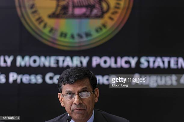 Raghuram Rajan governor of the Reserve Bank of India pauses during a news conference in Mumbai India on Tuesday Aug 4 2015 Rajan kept interest rates...