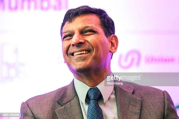 Raghuram Rajan governor of the Reserve Bank of India reacts at the FIBAC banking conference in Mumbai India on Monday Aug 24 2015 The conference runs...