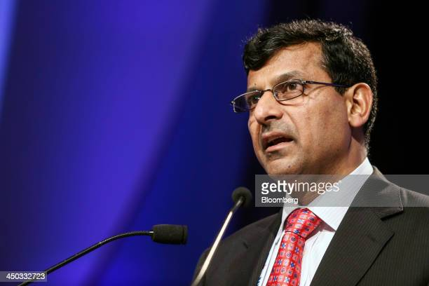 Raghuram Rajan governor of the Reserve Bank of India speaks at the Annual Bankers' Conference in Mumbai India on Friday Nov 15 2013 The Reserve Bank...