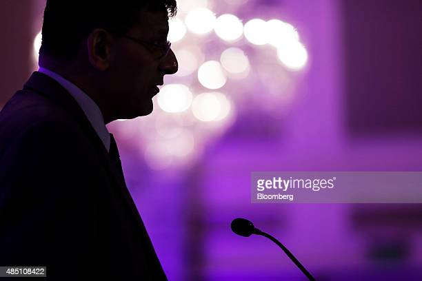 Raghuram Rajan governor of the Reserve Bank of India speaks at the FIBAC banking conference in Mumbai India on Monday Aug 24 2015 The conference runs...