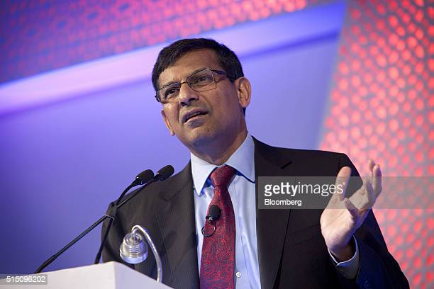 Raghuram Rajan governor of the Reserve Bank of India speaks at the Advancing Asia Conference in New Delhi India on Saturday March 12 2016 Indias...