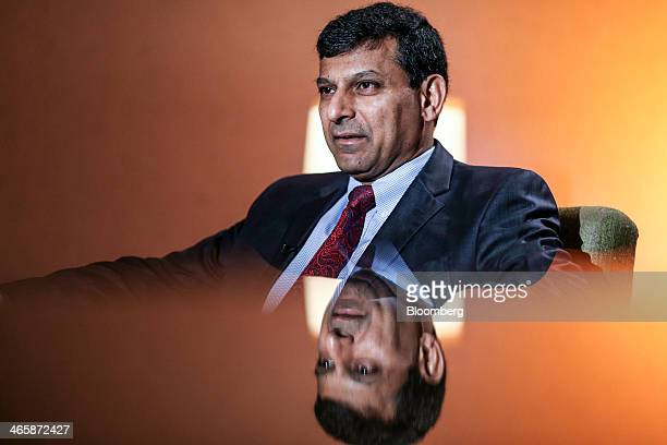 Raghuram Rajan governor of the Reserve Bank of India speaks during a Bloomberg Television India interview in Mumbai India on Thursday Jan 30 2014...