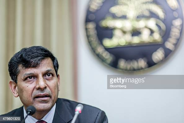 Raghuram Rajan governor of the Reserve Bank of India speaks during a news conference at the central bank's headquarters in Mumbai India on Tuesday...
