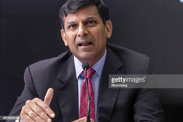 Raghuram Rajan governor of the Reserve Bank of India speaks during a news conference in Mumbai India on Tuesday Aug 4 2015 Rajan kept interest rates...