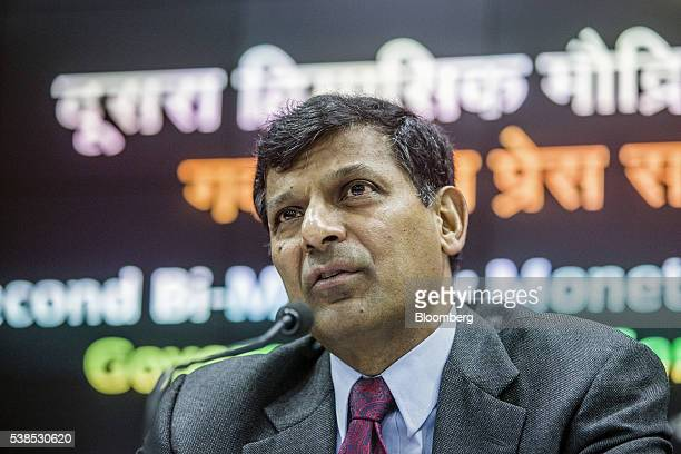 Raghuram Rajan governor of the Reserve Bank of India speaks during a news conference in Mumbai India on Tuesday June 7 2016 Rajan urged patience...