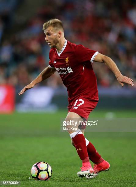 Ragnar Klavan of Liverpool controls the ball during the International Friendly match between Sydney FC and Liverpool FC at ANZ Stadium on May 24 2017...
