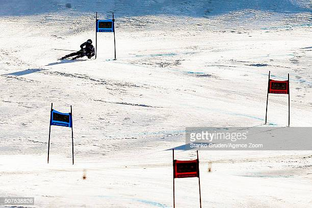 Ragnhild Mowinckel of Norway competes during the Audi FIS Alpine Ski World Cup Women's Giant Slalom on January 30 2016 in Maribor Slovenia