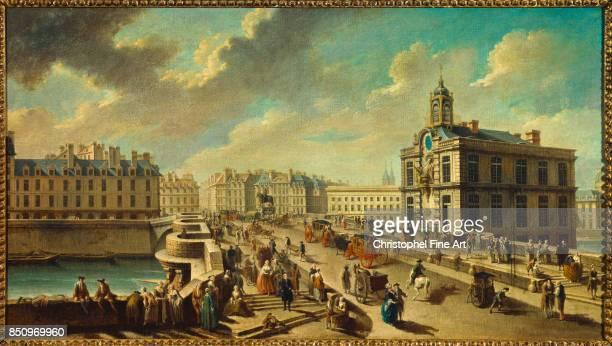 Raguenet Nicolas Jean Baptiste The Pont Neuf and the Samaritaine Paris Carnavalet Museum