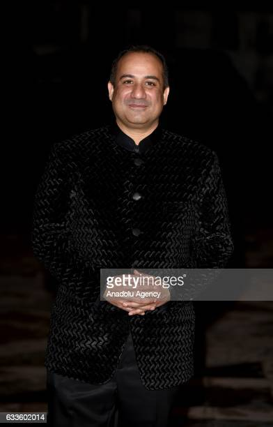 Rahat Fateh Ali Khan arrives for the British Asian Trust Dinner at the Guildhall in London United Kingdom on February 02 2017