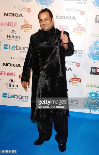 SURNAME Rahat Fateh Ali Khan arriving at the Lebara Mobile Asian Music Awards at Wembley Arena London