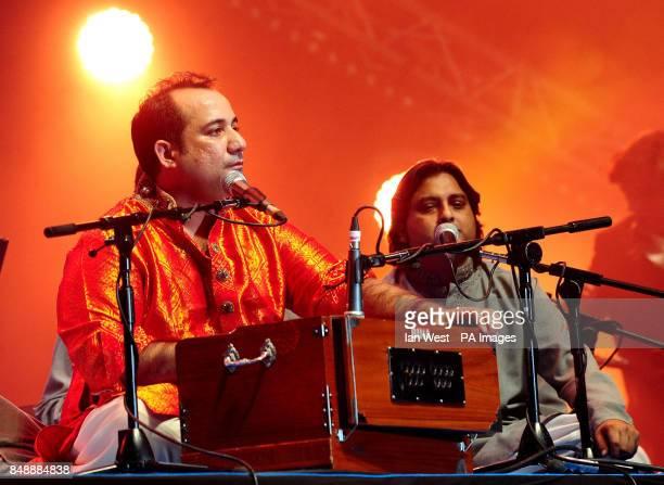 Rahat Fateh Ali Khan performs at the Lebara Mobile Asian Music Awards at Wembley Arena London