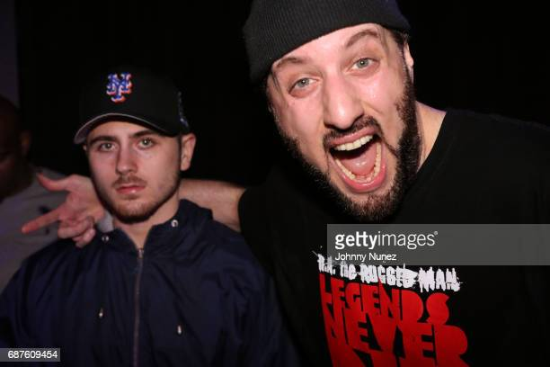 RahC and RA The Rugged Man backstage at Highline Ballroom on May 23 2017 in New York City