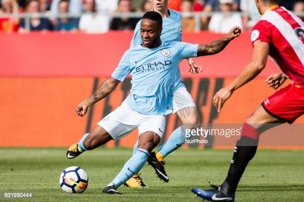 07 Raheem Sterling from England of Manchester City during the Costa Brava Trophy match between Girona FC and Manchester City at Estadi de Montilivi...
