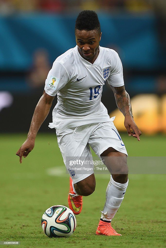 Raheem Sterling of England in action during the 2014 FIFA World Cup Brazil Group D match between England and Italy at Arena Amazonia on June 14, 2014 in Manaus, Brazil.